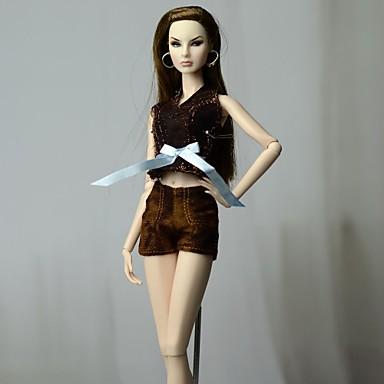 levne Doplňky pro panenky-Oblečení pro panenky Doll Pants Kalhoty Topy Pro Barbie Módní Tmavě hnědá Netkaná textilie Látka Bavlněné tkaniny Vrchní deska / Kalhoty Pro Dívka je Doll Toy