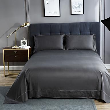 preiswerte Bettbezüge Sets & Kissenbezüge-Betttuch - 100% Ägyptische Baumwolle Jacquard Solide 1 Stk. Betttuch / 2 Stk. Kissenbezüge