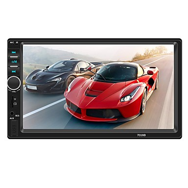 swm 7018b 7 tommers 2 din annen os bil mp5 spiller / bil mp4 spiller / bil multimediaspiller berøringsskjerm / mp3 / innebygd Bluetooth for universal rca / tv out / bluetooth support mpeg / avi / mpg