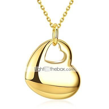 Dame Halskædevedhæng Hjerte Damer Sød Mode Plastik Guldbelagt Guld 50 cm Halskæder Smykker 1pc Til Daglig Arbejde