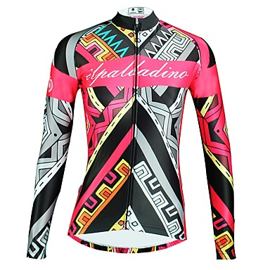 Ilpaladino Women S Long Sleeve Cycling Jersey Black Floral