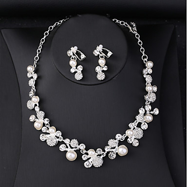 Žene Svadbeni nakit Setovi Klasičan Slatka Style Elegantno Imitacija bisera Naušnice Jewelry Obala Za Vjenčanje Party 1set
