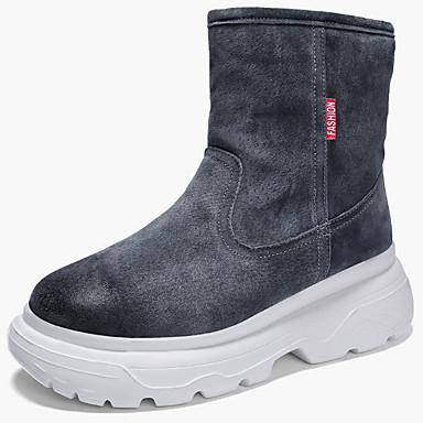 Muškarci Čizme za snijeg Brušena koža Jesen zima Ležerne prilike / Uglađeni Čizme Ugrijati Crn / Crno-bijeli / Sive boje / Vanjski / Fashion Boots / Vojničke čizme