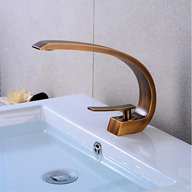 Kupaonica Sudoper pipa - LED Starinski Bakar Središnje pozicionirane Jedan Ručka jedna rupaBath Taps