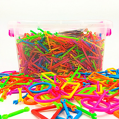 cheap Magic Tricks-Interlocking Blocks Magic Tricks Kids Creative Boys' Girls' Gift 500 pcs Rainbow