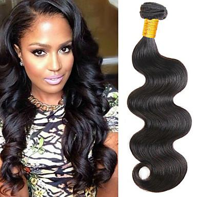 povoljno Ekstenzije od ljudske kose-4 paketića Peruanska kosa Tijelo Wave Netretirana  ljudske kose Ljudske kose plete Bundle kose Ekstenzije od ljudske kose 8-28 inch Prirodna boja Isprepliće ljudske kose Kreativan Nježno Moda