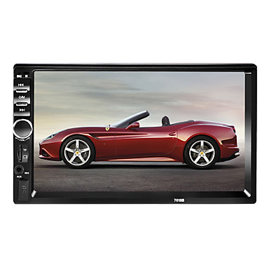 cheap Car DVD Players-7018 7 inch 2 DIN Windows CE 6.0 In-Dash Bluetooth Car DVD Player for Universal Support AVI / MPG / PMP MP3 / WMA / WAV / TF Card / Car Multimedia Player / Car MP5 Player