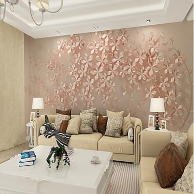 Fond d 39 cran mural toile rev tement adh sif requis fleur d coration artistique 3d de - Decoration adhesif mural ...