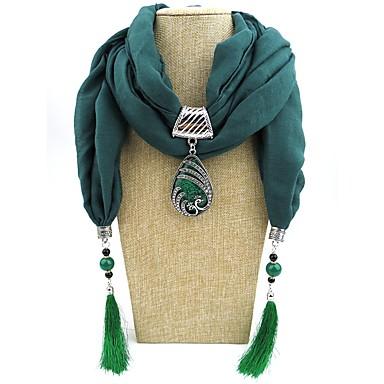 povoljno Modne ogrlice-Žene Ogrlica od šalova Long dame Romantični slatko Elegantno Poly / Cotton Crvena Plava Svijetlo zelena 180 cm Ogrlice Jewelry 1pc Za Dar Spoj