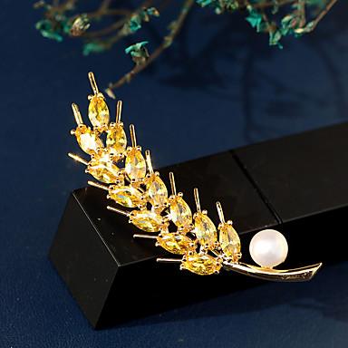 levne Dámské šperky-Dámské Sladkovodní perla Brože Klasika Špice dámy Luxus korejština Pozlacené Rakouský křišťál Brož Šperky Bílá Pro Street