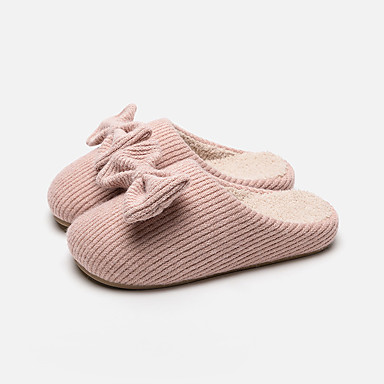 1326f94b1a8a Women s Slippers   Men s Slippers Moccasin Slippers   Guest Slippers   House  Slippers Ordinary   Casual Knit Bowknot Shoes 7029037 2019 –  20.89