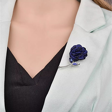 Žene Broševi Vintage Style Stilski Jedinstven dizajn Francuski Broš Jewelry Dark Blue Lila-roza Siva Za Vjenčanje Dar