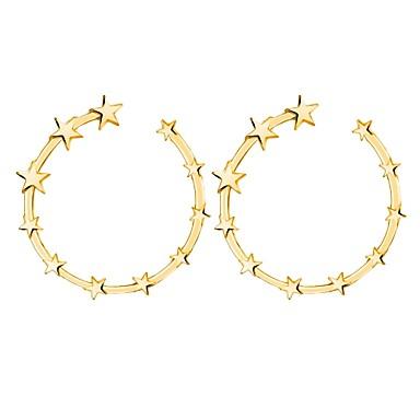 Žene Sitne naušnice Klasičan Csillag dame Rococo Naušnice Jewelry Zlato / Pink Za Zabava / večer Svečanost 1 par