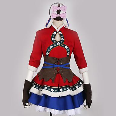 9499 Inspirado Por Love Live Cosplay Animé Disfraces De Cosplay Japonés Trajes Cosplay Vestidos Bloques Clásico Vestido Guantes Capa Para