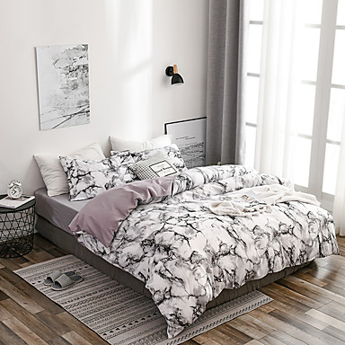 cheap Duvet Covers-Duvet Cover Sets Stripes Ripples Polyster Printed 3 Piece Bedding Set With Pillowcase Bed Linen Sheet Single Double Queen King Size Quilt