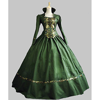 [$109.99] Classic Lolita Rococo Victorian 18th Century Dress Party Costume  Masquerade Women\'s Girls\' Costume Green Vintage Cosplay Satin Party Prom ...