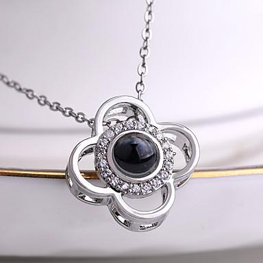 Žene Charm Necklace dame Korejski slatko Moda Umjetno drago kamenje Legura Zlato Pink 42+5 cm Ogrlice Jewelry 1pc Za Dnevno Praznik