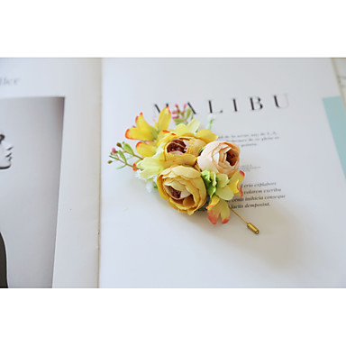 Damen Broschen Nicht übereinstimmend Brosche Schmuck Gelb Leicht Rosa Für Hochzeit Zeremonie