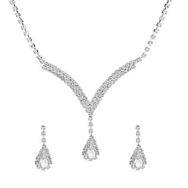 b87eba73d Mulheres Clássico Conjunto de jóias - Caído Na moda