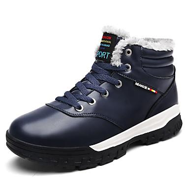 Muškarci Čizme za snijeg Sintetika Zima Vintage / Ležerne prilike Čizme Ugrijati Crn / Braon / Plava / Vanjski / Fashion Boots