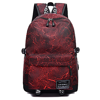 Women s Bags Oxford Cloth Backpack Zipper Geometric Pattern Black   Red    Purple 7007938 2019 –  22.99 d1be2189dca10