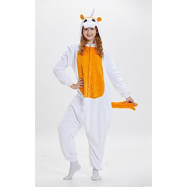 Odrasli Kigurumi plišana pidžama Unicorn Anime Poni Onesie pidžama poliester vlakana žuta Cosplay Za Muškarci i žene Zivotinja Odjeća Za Apavanje Crtani film Festival / Praznik Kostimi