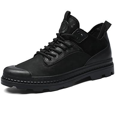 Muškarci Kožne cipele Koža Proljeće Vintage / Ležerne prilike Sneakers Masaža Crn / Udobne cipele