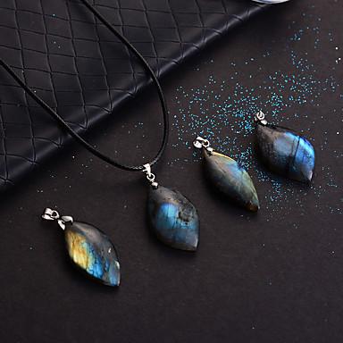 povoljno Modne ogrlice-Žene Moonstone Ogrlice s privjeskom Klasičan magija dame Nature Kamen Dark Blue 46 cm Ogrlice Jewelry 1pc Za Party Dar