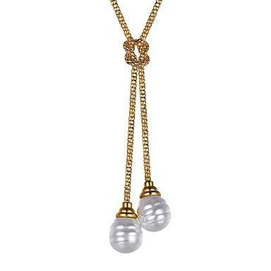 Žene Ogrlice s privjeskom hvatati lasom dame Moda Tikovina Imitacija bisera Zlato Pink 55 cm Ogrlice Jewelry 1pc Za Dar Dnevno