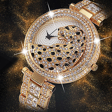 povoljno Ženski satovi-Žene Ručni satovi s mehanizmom za navijanje Diamond Watch Zlatni sat Japanski Japanski kvarc Nehrđajući čelik Srebro / Zlatna 30 m Kreativan New Design Cool Analog dame Luksuz Moda Bling Bling -