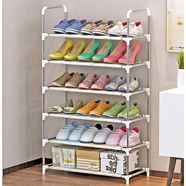 preiswerte Schuhe Zubehör-Schuhablagen & Aufhänger Vliesstoff 6 Stufen Unisex Weiß / Silber