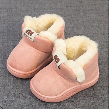 20433ce96f70 Girls  Shoes Cotton Fall   Winter Bootie   Fur Lining Boots for Toddler  Coffee