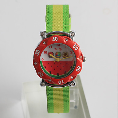 levne Pánské-Pro páry Sportovní hodinky japonština Japonské Quartz Nylon žlutá / Jetelová 30 m Roztomilý Analog - Digitál Animák - Červená Jeden rok Životnost baterie