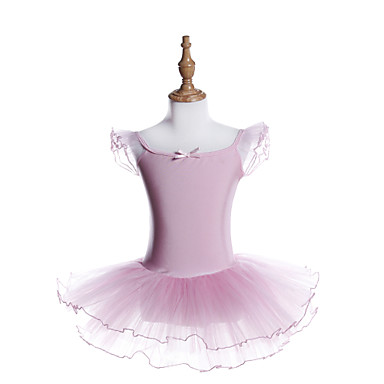 057fee999f Ballet Vestidos Chica Entrenamiento   Rendimiento Poliéster   Licra Fajas    Cintas   Volantes en Cascada   Banda Manga Corta Vestido 7001327 2019 –   19.99