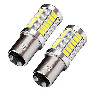 2pcs top φακός σχεδιασμός bay15d 1157 οδήγησε φως φλας φλας 9w 720lm οδήγησε φως stop λευκό