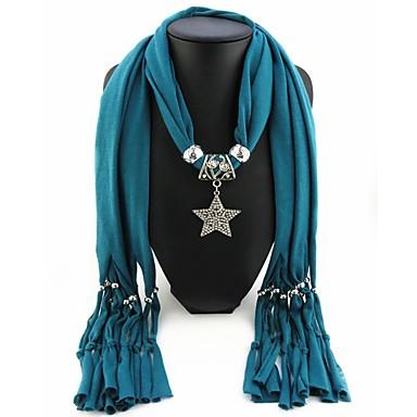 povoljno Modne ogrlice-Žene Ogrlica od šalova Long dame Europska Romantični slatko Poly / Cotton Crvena Plava Svijetlo zelena 180 cm Ogrlice Jewelry 1pc Za Ulica Nova Godina