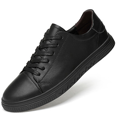Muškarci Kožne cipele Koža Proljeće & Jesen Sportski / Ležerne prilike Sneakers Non-klizanje Crn / Obala / Atletski / Udobne cipele