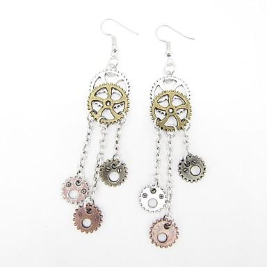 Žene Viseće naušnice Vintage Style Gear dame Stilski Vintage Steampunk kinetički Naušnice Jewelry Pink Za Dar Ulica 1pc