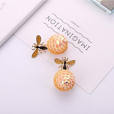 Žene Viseće naušnice Skulptura Lopta Pčela dame Jedinstven dizajn pomodan Moda Naušnice Jewelry Crn / Bijela Za Praznik Kamado roštilj 1 par