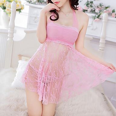 女性用 スカート - ソリッド バックレス ブラック ピンク パープル フリーサイズ / ホルター / スーパーセクシー