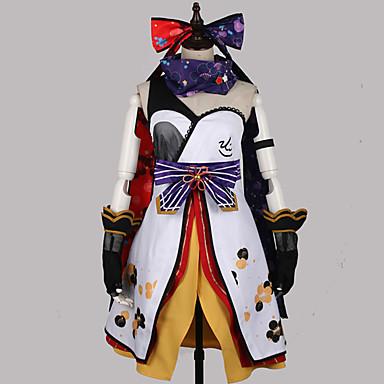 Inspirirana Ljubav uživo Cosplay Anime Cosplay nošnje Japanski Cosplay Suits Kolaž / Miks boja Haljina / Rukavice / Luk Za Muškarci / Žene