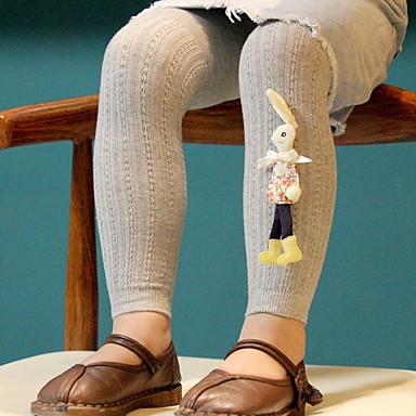 cheap Girls' Underwear & Socks-Toddler Girls' Vintage Solid Colored Cotton Underwear & Socks Black