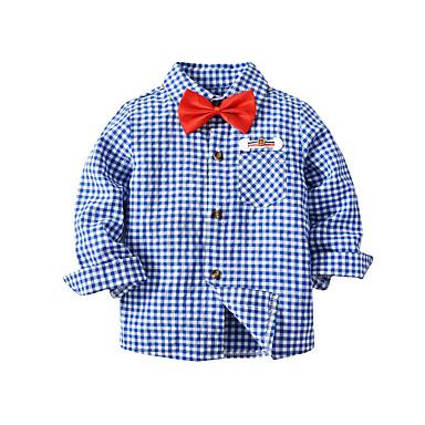 Μωρό Αγορίστικα Βασικό Μονόχρωμο Μακρυμάνικο Κανονικό Βαμβάκι Πουκάμισο  Θαλασσί   Νήπιο 7026208 2019 –  16.95 638a4a17b64