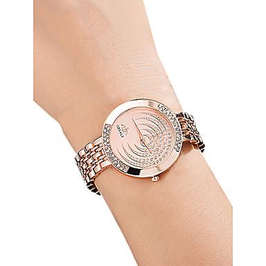 povoljno Ženski satovi-Žene Ručni satovi s mehanizmom za navijanje Diamond Watch Zlatni sat Kvarc Srebro / Zlatna / Rose Gold 30 m Vodootpornost imitacija Diamond Analog dame Ležerne prilike Moda - Zlato Pink Rose Gold
