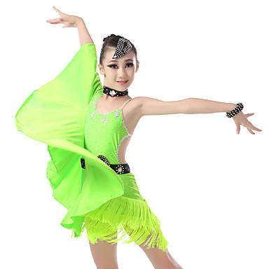 8a85edd4e5b Λάτιν Χοροί Φορέματα Κοριτσίστικα Εκπαίδευση / Επίδοση Ελαστίνη / Λίκρα  Κρύσταλλοι / Στρας / Παγιέτες Αμάνικο Φόρεμα 7024522 2019 – $69.99