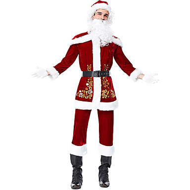 Cosplay Costume Santa Clothe Men's Teen Adults' Christmas Christmas New  Year Festival / Holiday Terylene Outfits Red Holiday 7040936 2019 – $149.99 - Cosplay Costume Santa Clothe Men's Teen Adults' Christmas Christmas