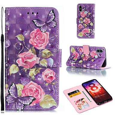 Θήκη Za Xiaomi Xiaomi Redmi Note 6 / Xiaomi Pocophone F1 / Redmi 6A Novčanik / Utor za kartice / sa stalkom Korice Cvijet Tvrdo PU koža