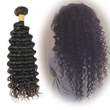 1 paket Brazilska kosa Duboko Val Ljudska kosa Ekstenzije od ljudske kose 10-26 inch Isprepliće ljudske kose Nježno Najbolja kvaliteta Novi Dolazak Proširenja ljudske kose / 8A
