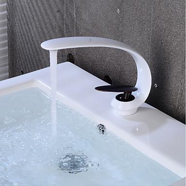Kupaonica Sudoper pipa - Kreativan Slikano završi / Crn Središnje pozicionirane Jedan Ručka jedna rupaBath Taps