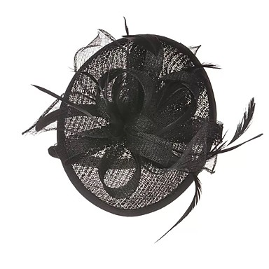Linen / Polyester Blend / Silk / Feathers Headwear / Headdress with Feather / Ribbon Tie 1 Piece Wedding / Party / Evening Headpiece